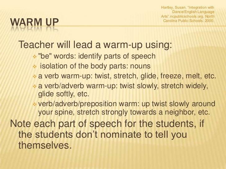 Classroom Warm Up Ideas ~ Dance in the esl classroom