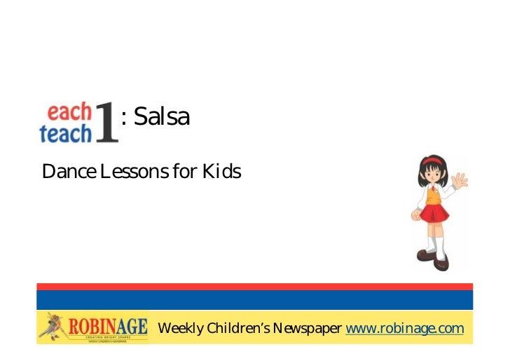 EOTO : SalsaDance Lessons for Kids            Weekly Children's Newspaper www.robinage.com            Weekly Children's Ne...