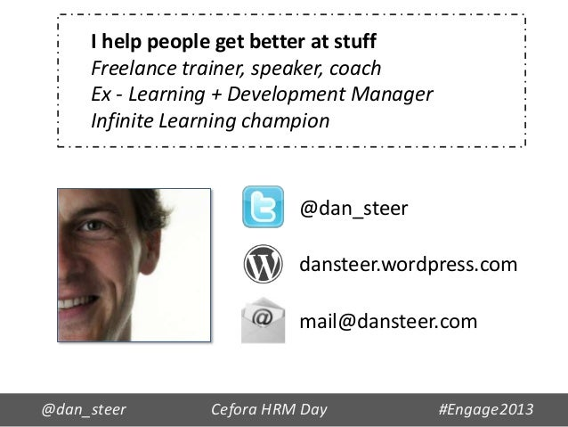 I help people get better at stuff     Freelance trainer, speaker, coach     Ex - Learning + Development Manager     Infini...