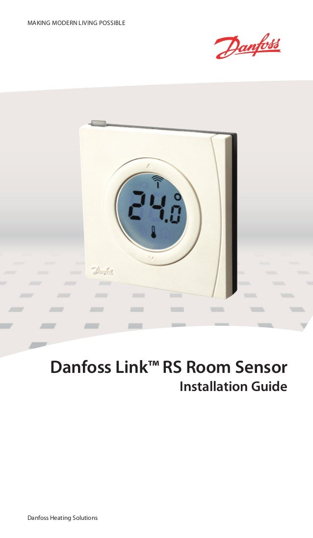 manual wall thermostat danfoss link rs zwave. Black Bedroom Furniture Sets. Home Design Ideas