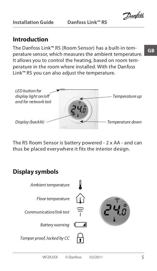 Manual Wall Thermostat Danfoss Link Rs Zwave
