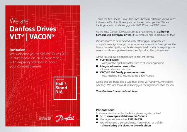 Exhibition Stand Invitation : Danfoss drives invitation to sps ipc