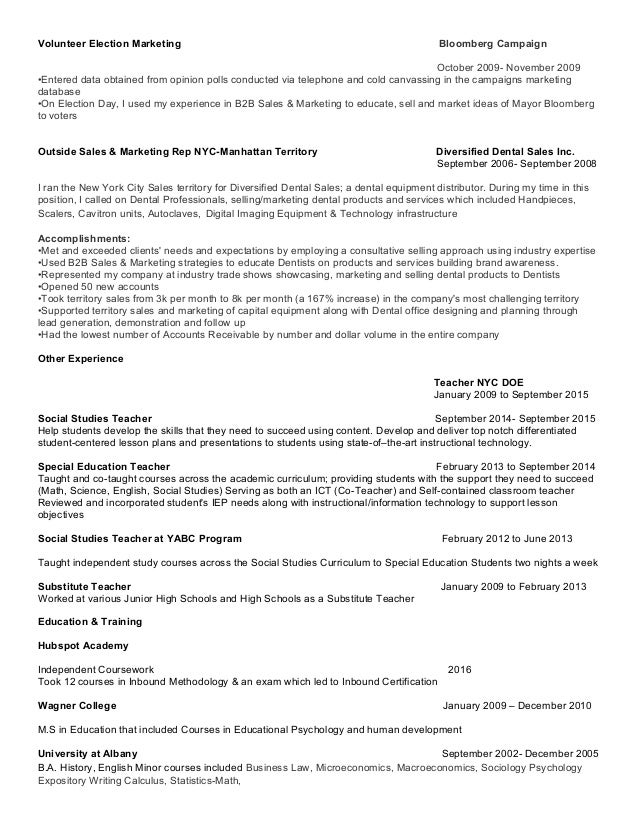 ... Conference; 2. Volunteer Election Marketing ...  Product Marketing Resume