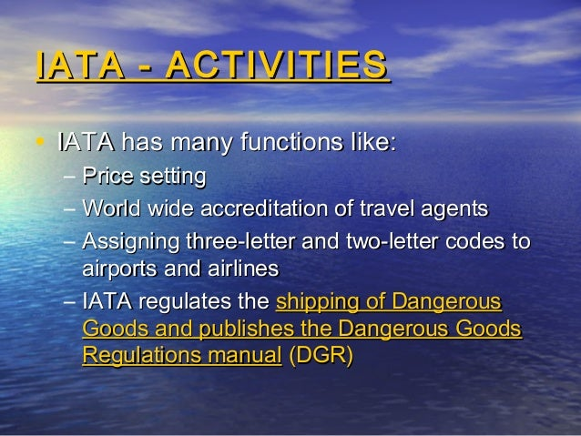 Iata Rules For Travel Agents