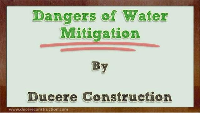 Dangers of Water Mitigation