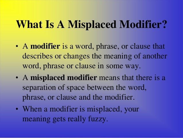 Dangling modifiers – Dangling Modifier Worksheet