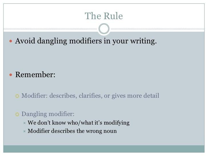 Dangling modifier