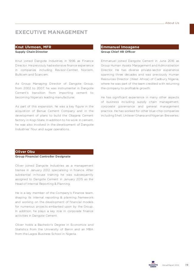 Dangote Cement 2016 Annual Report DCP AR 2016 07032017