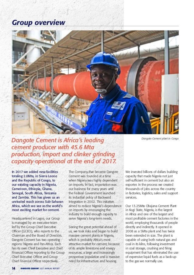 Dangote Cement annual report 2017