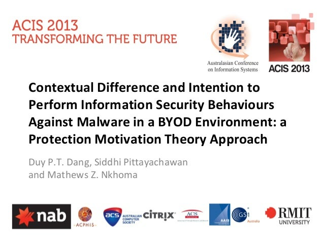Contextual Difference and Intention to Perform Information Security Behaviours Against Malware in a BYOD Environment: a Pr...