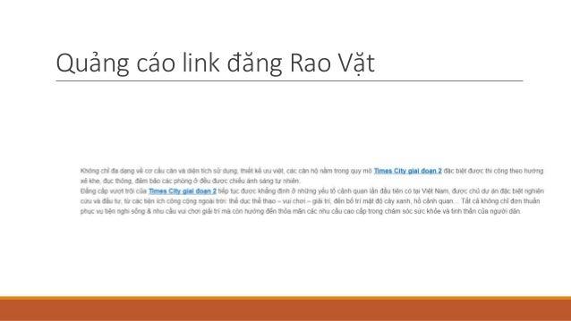 Quảng cáo link đăng Rao Vặt