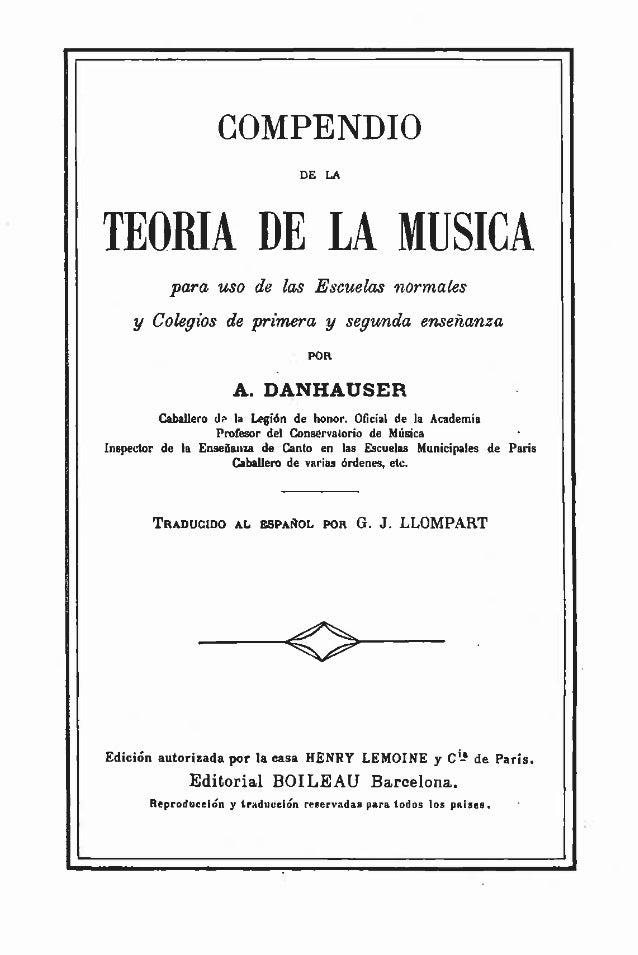 teoria de la musica danhauser pdf en espaol