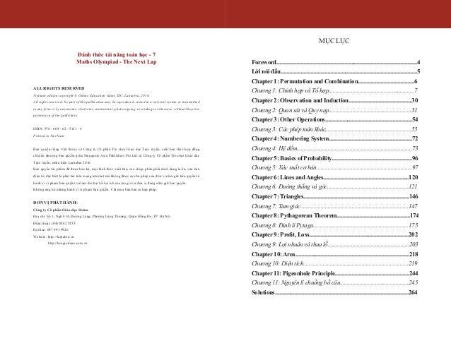 Đánh thức tài năng toán học - Quyển 7 (14-15 tuổi) | Sách toán song ngữ singapore Slide 2