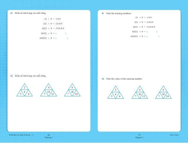 16 Chương 1 17 Chapter 1 Đánh thức tài năng Toán học - 2 Terry Chew 11 Find the missing numbers.  21  ×  9  =  1 8 9  3...