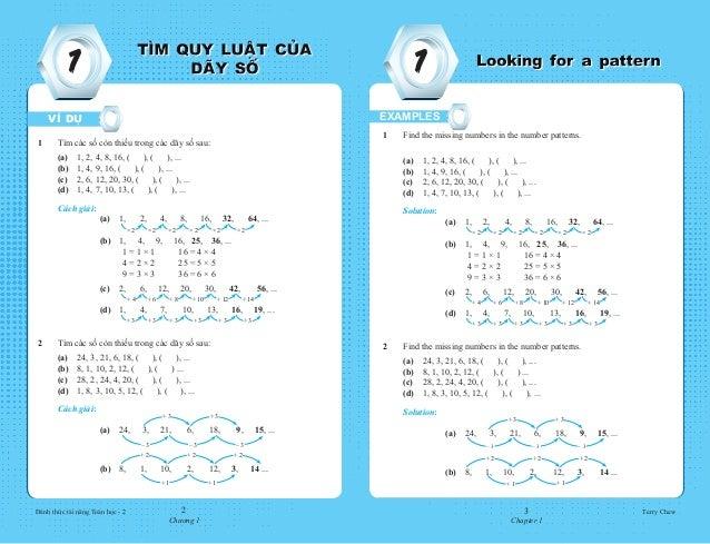 Đánh thức tài năng Toán học - 2 Terry Chew2 Chương 1 3 Chapter 1 1 1 1 Find the missing numbers in the number patterns....