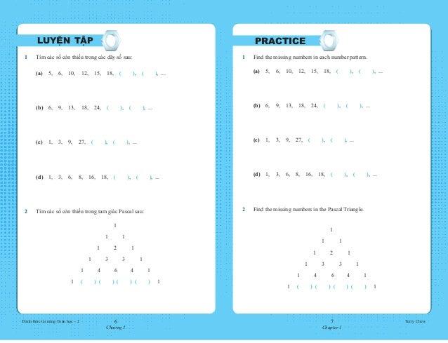 6 Chương 1 7 Chapter 1 Đánh thức tài năng Toán học - 2 Terry Chew 1 Find the missing numbers in each number pattern.  (a...