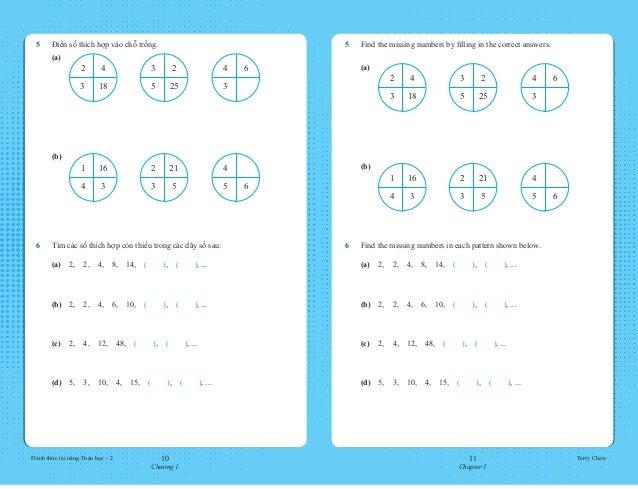 10 Chương 1 11 Chapter 1 Đánh thức tài năng Toán học - 2 Terry Chew 5 Find the missing numbers by filling in the correct ...
