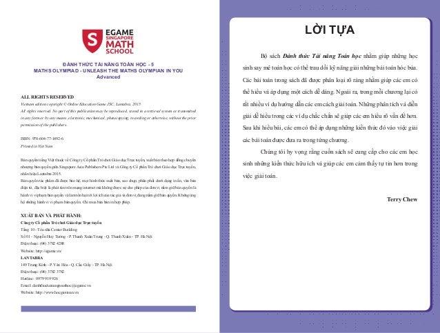 Đánh thức tài năng toán học - Quyển 5 (11-13 tuổi) | Sách toán song ngữ singapore Slide 2
