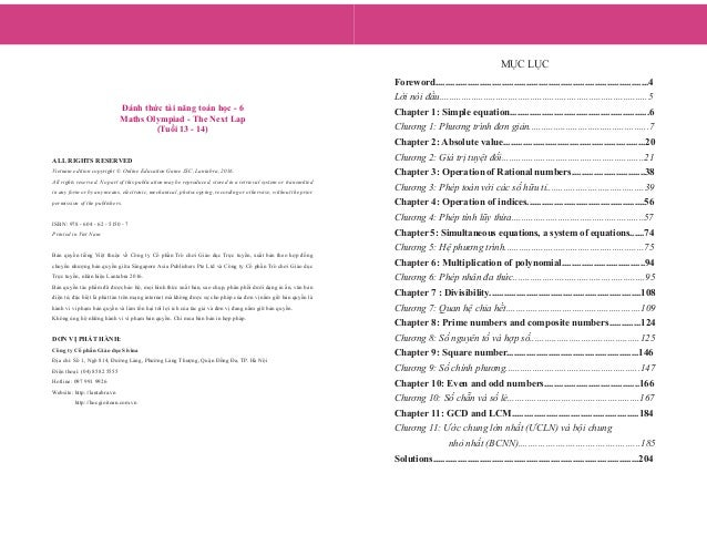 Đánh thức tài năng toán học - Quyển 6 (13-14 tuổi) | Sách toán song ngữ singapore Slide 2