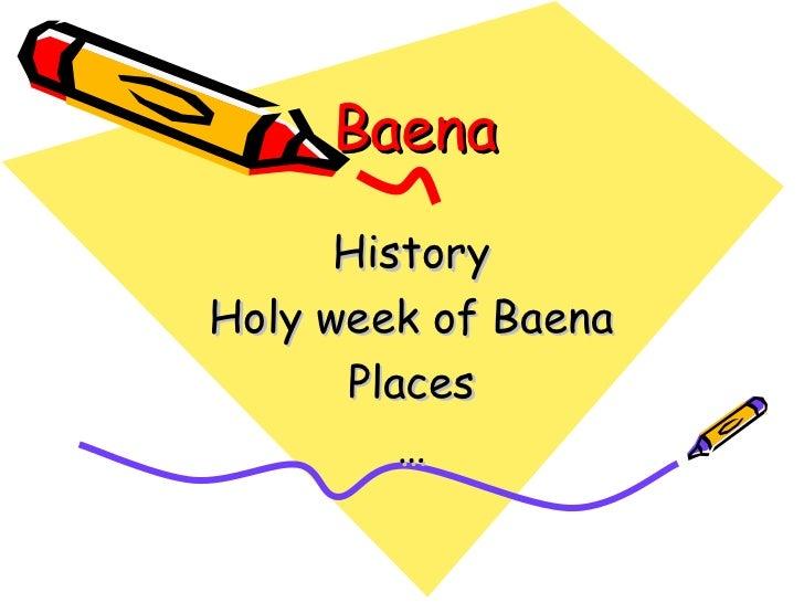 Baena History Holy week of Baena Places …