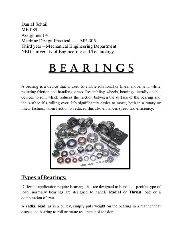 Bearing Types and Application Design | Ball Bearings ...
