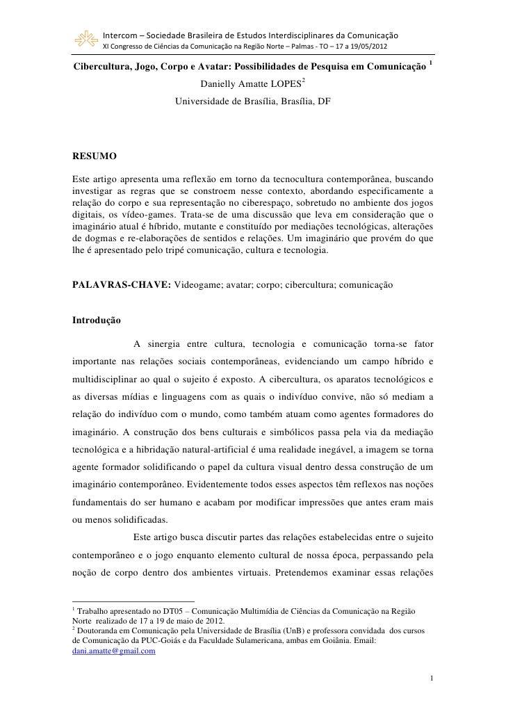 Intercom – Sociedade Brasileira de Estudos Interdisciplinares da Comunicação        XI Congresso de Ciências da Comunicaçã...