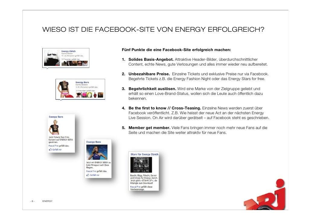 WIESO IST DIE FACEBOOK-SITE VON ENERGY ERFOLGREICH?                          Fünf Punkte die eine Facebook-Site erfolgreic...