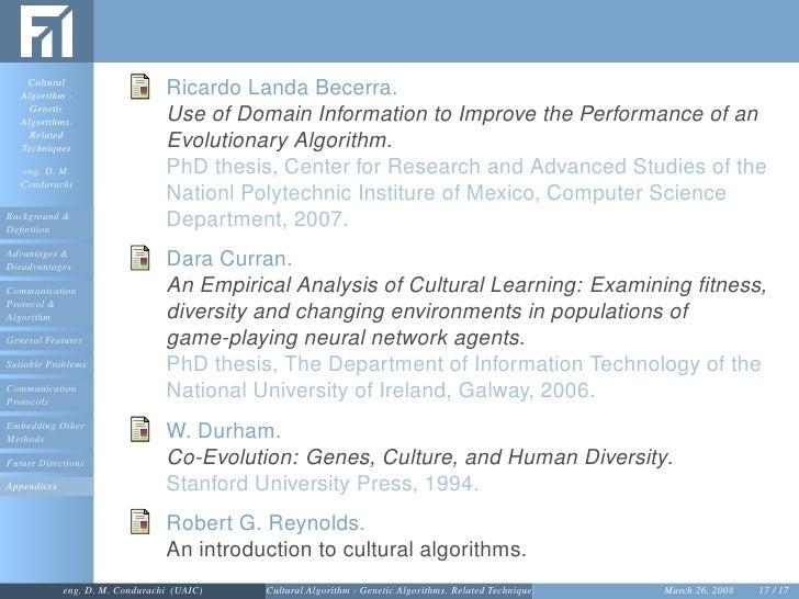 Phd thesis evolutionary algorithm