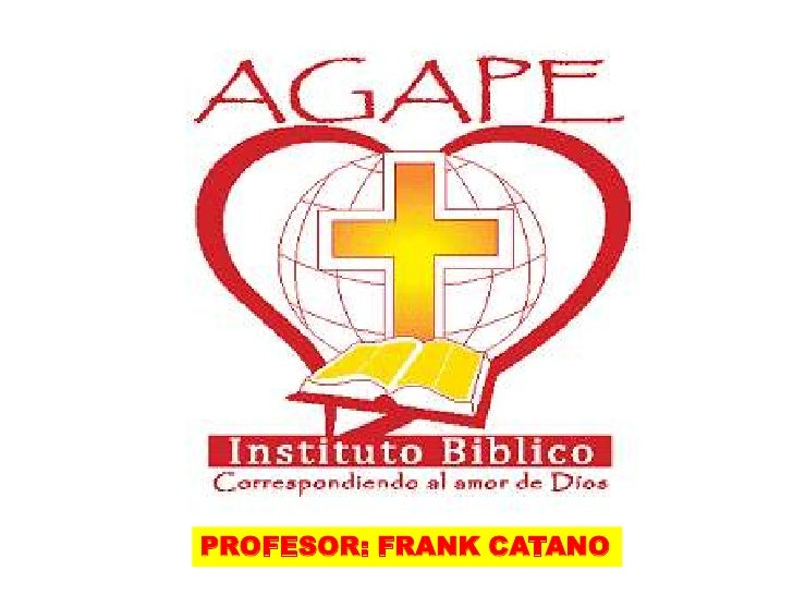PROFESOR: FRANK CATANO<br />