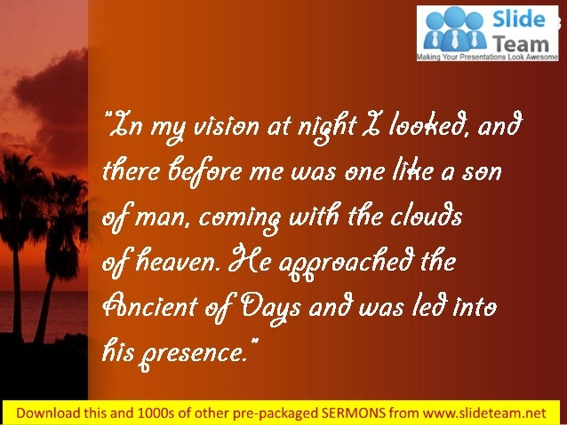 Daniel 7 13 clouds of heaven power point church sermon Slide 3