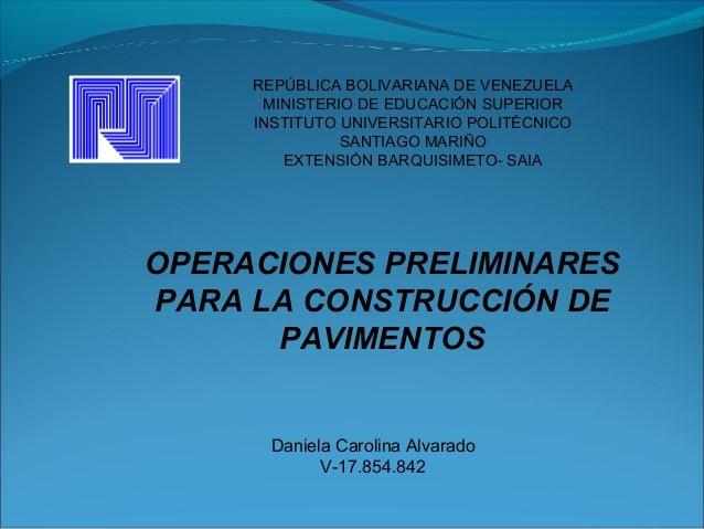 REPÚBLICA BOLIVARIANA DE VENEZUELA MINISTERIO DE EDUCACIÓN SUPERIOR INSTITUTO UNIVERSITARIO POLITÉCNICO SANTIAGO MARIÑO EX...