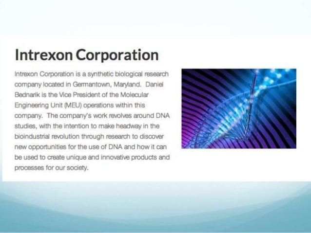 Overview of Intrexon Corporation By Daniel Bednarik