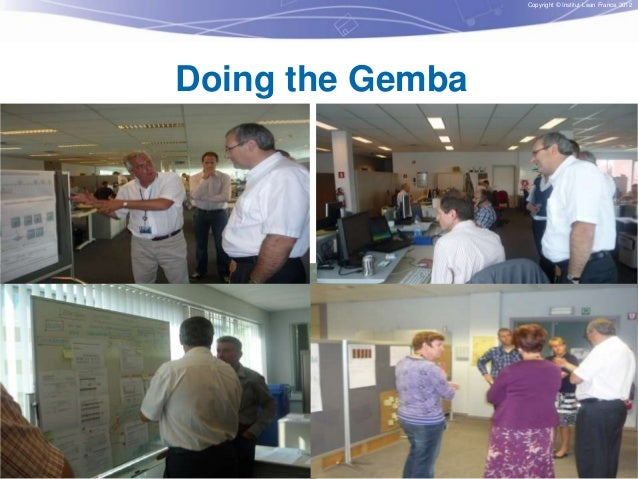 Copyright © Institut Lean France 2012  Doing the Gemba  22