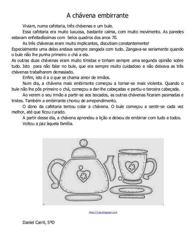 A chávena embirrante Viviam, numa cafetaria, três chávenas e um bule. Essa cafetaria era muito luxuosa, bastante calma, co...
