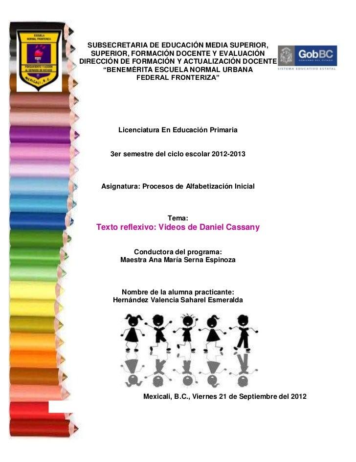SUBSECRETARIA DE EDUCACIÓN MEDIA SUPERIOR,   SUPERIOR, FORMACIÓN DOCENTE Y EVALUACIÓNDIRECCIÓN DE FORMACIÓN Y ACTUALIZACIÓ...