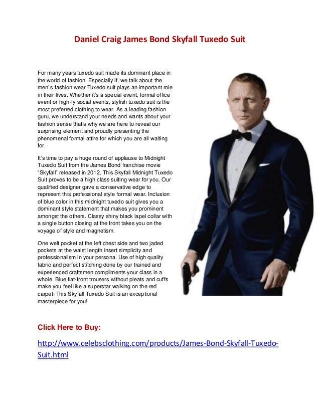 Daniel Craig James Bond Skyfall Tuxedo Suit