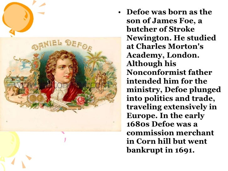 Daniel Defoe Slide 3