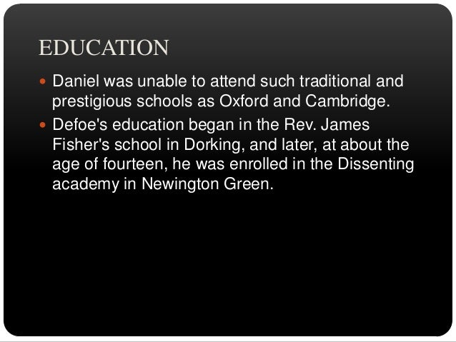 """Writing Career  Defoe began writing anonymously in the 1680s.  He mostly wrote political essays.  Defoe""""s first success..."""