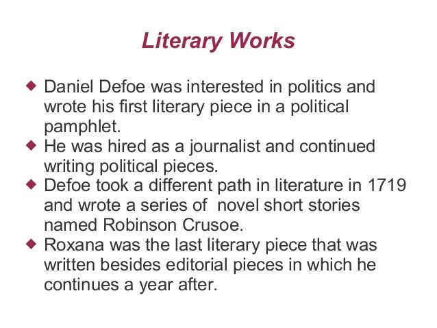 comment on daniel defoe Moll flanders daniel defoe table of contents summary summary & analysis section 1 (moll's childhood) section 2 (moll's first lover and first marriage) section.
