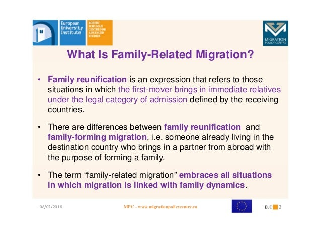 family migration Lately, the case against family-based migration has taken a strident turn  immigration restrictionists, including president donald trump, portray.