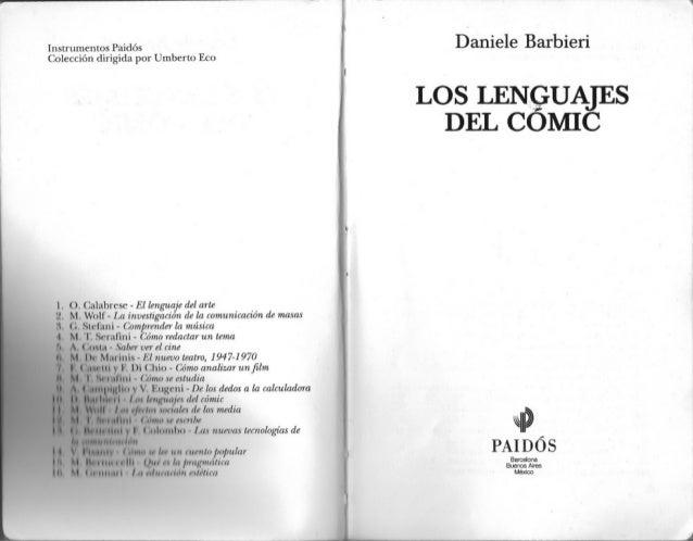 Daniele  barbieri los lenguajes del comic rp pdf