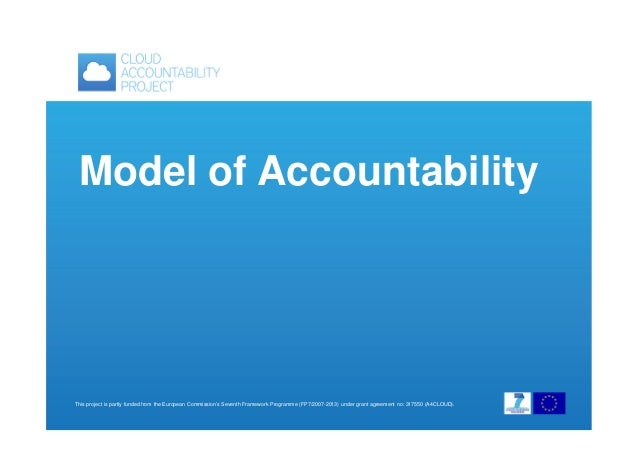 Model of Accountability  This project is partly funded from the European Commission's Seventh Framework Programme (FP7/200...