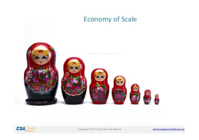 Economy of Scale  Security Benefits  Copyright © 2011 Cloud Security Alliance Copyright © 2013 Cloud Security Alliance  ww...