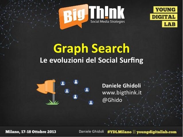 Graph&Search&  Le&evoluzioni&del&Social&Surfing& Daniele&Ghidoli& www.bigthink.it' @Ghido'  Daniele'Ghidoli'