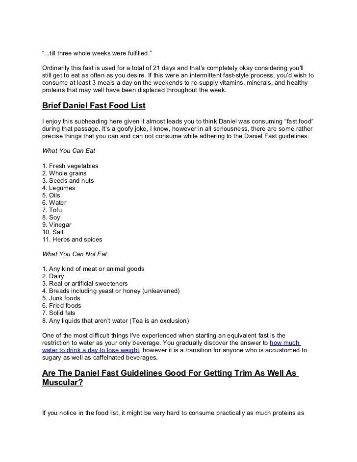 21 day daniel fast guidelines pdf