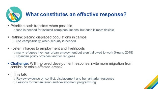 Accelerating food and nutrition security during conflict and protracted displacement Slide 3