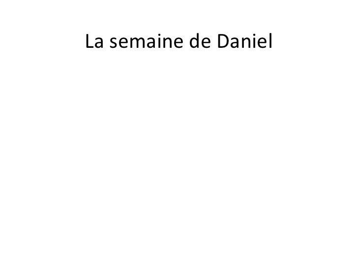 La semainede Daniel<br />