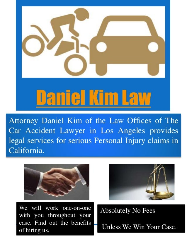 Daniel Kim Law Attorney Daniel Kim of the Law Offices of The Car Accident Lawyer in Los Angeles provides legal services fo...