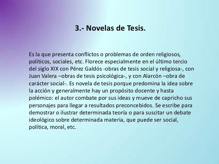 novela de tesis