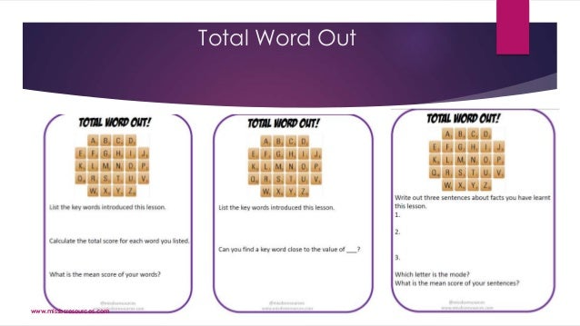 Total Word Out www.missbsresources.com